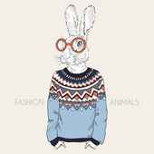 Dressed up animal — Vetor de Stock