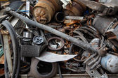 Scrap metal, old car parts — Stock Photo