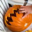 Carving of pumpkin — Stock Photo