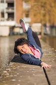 Woman urban sport exercising — Stock Photo
