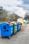 Trash Containers on the Street  in Germany — Stok fotoğraf