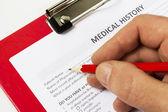Questionnaire sur les antécédents médicaux — Photo