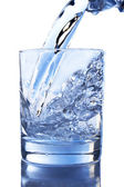 Pouring Water in a Glass — Stock Photo
