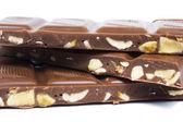 Chocolate bar on white background — Stock Photo