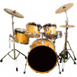 Drum kit isolated on white background — Stock Photo #45160491