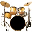 Drum kit isolated on white background — Stock Photo #45160519