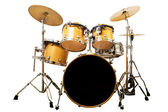 Drum kit isolated on white background — Stock Photo