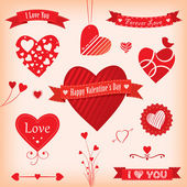 Love Banners and Labels — Stock Vector