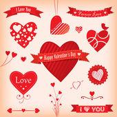 любовь плакаты и этикетки — Cтоковый вектор
