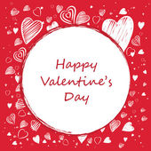 Valentine Card with Red Background — Stock Vector