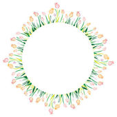 Tulip Circle — Stock Vector