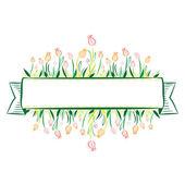 Tulip Banner — Vector de stock