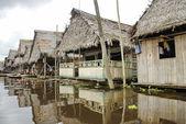 Typical water street in Belen, Iquitos, Peru.