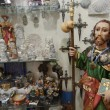 Typical showcase of gift shop in Santiago de Compostela, Spain. — Stock Photo