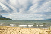 Lake Baikal shore in windy weather. — Stock Photo