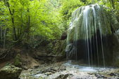 Waterfall Serebryanye strui (Silver streams) in Crimea. — Stock Photo