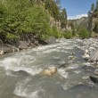 View on mountain river in Svaneti, Georgia. — Stock Photo