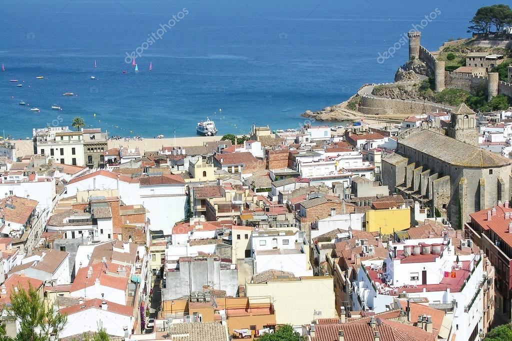 Vila Vella ( Old Town) in Tossa de Mar, Spain. — Stock ...