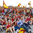 Spanish fans gathered at the stadium to see the TV translation of the final match of the World Cup 2010. — Stock Photo