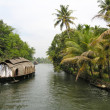 Traditional houseboat in Kerala backwaters, India. — Stock Photo
