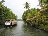 Traditional houseboat in Kerala backwaters, India. — Stock Photo