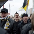 "Russian nationalists at the annual ""Russian March"" in Moscow, Russia. — Stock Photo"