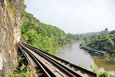 Railways along The River Kwai, Thailand. — Стоковое фото
