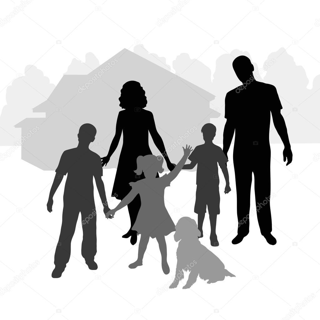 大家族 — 图库矢量图像08