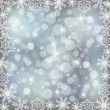 silver snowflake — Stock Photo