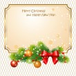 Christmas greetings — Stock Vector