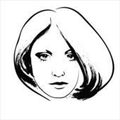 Sad woman — Stock Vector