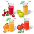 Set juices — Stock Vector