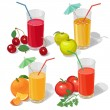 Set juices — Stock Vector #34610327