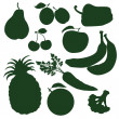 Fruits and vegetables — Stock Vector #34610359