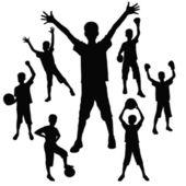 Genç atlet — Stok Vektör