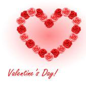Valentine's roses — Stock Vector