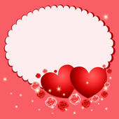 Valentine's day postcard — Vector de stock