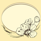 Brown flowers — Stock Vector