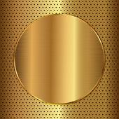 Gold circle — Stock Vector