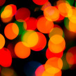 Bokeh of christmas lights , abstract background — Stock Photo
