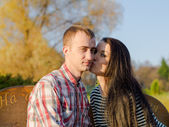 Young couple outdoors — Stock Photo