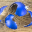 图库照片: Broken Christmas Toy on wooden background