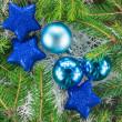 Foto Stock: Christmas. Christmas Decoration Holiday Decorations Isolated on
