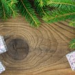 Christmas. Christmas Decoration and Gift Box Holiday Decorations — Stockfoto #36136549