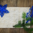 Stockfoto: Christmas Background.Blank Old Paper Sheet with Decoration