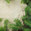 Christmas Background.Blank Old Paper Sheet with Decoration — Stock Photo #36138107