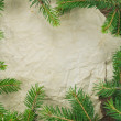 Christmas Background.Blank Old Paper Sheet with Decoration — Stock Photo #36138111