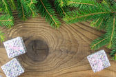 Christmas. Christmas Decoration and Gift Box Holiday Decorations — Stock Photo