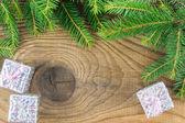 Christmas. Christmas Decoration and Gift Box Holiday Decorations — Stock Photo