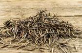 Un mucchio di semi di tagete è pronto a piantare in un giardino di primavera su — Foto Stock